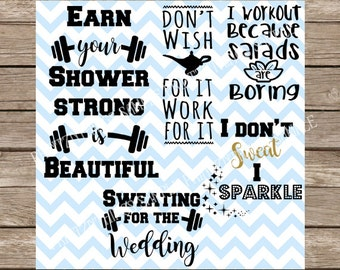 Workout svg, Workout, Fitness SVG, Workout SVG Pack, Exercise svg, Gym svg, svg exercise, svg fitness, svg, wedding svg, barbell svg