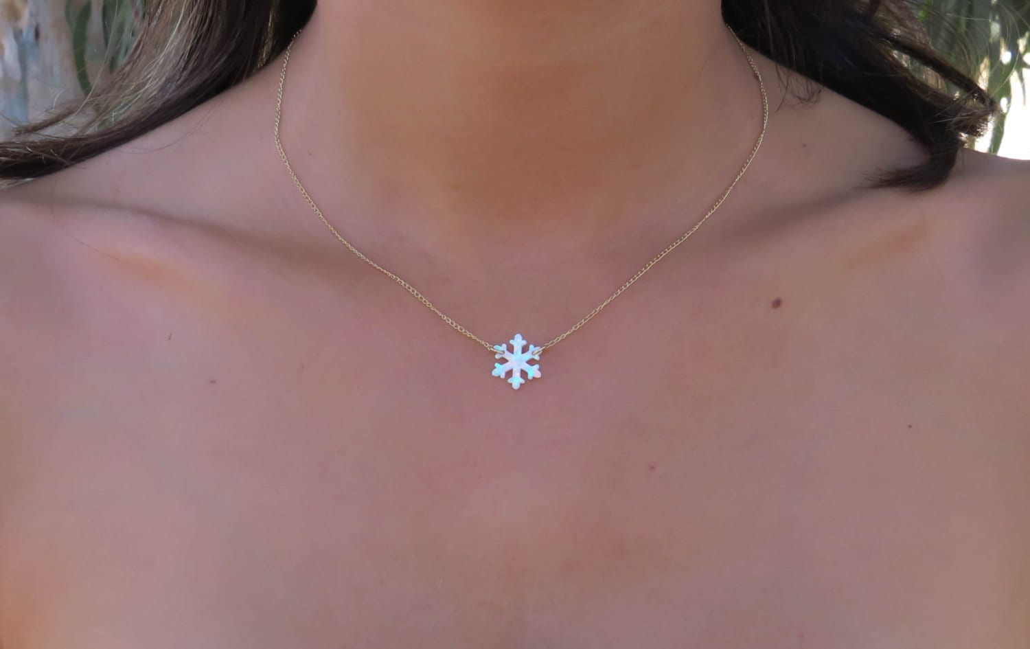 necklace snowflake ml cz bling pearl pendant jewelry white az baguette