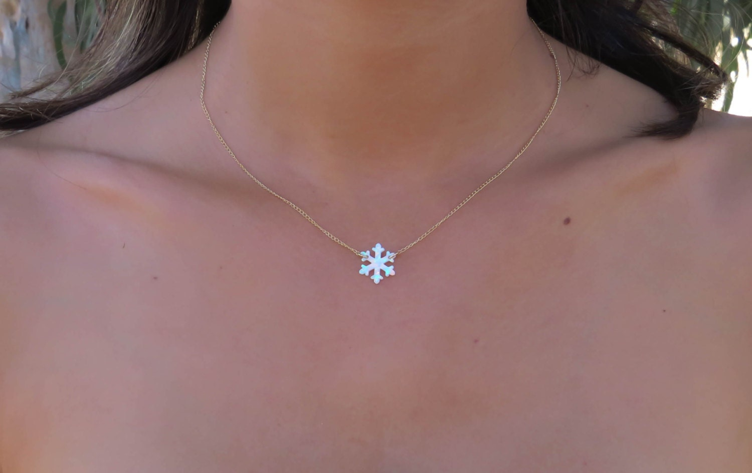jewelry wholesale sand laaeek snowflake necklace in available rose diamond christmas titanium pendant product gold winter steel finish