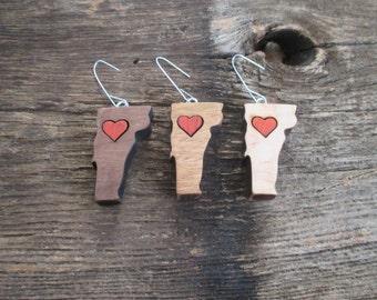 Vermont Heart Ornaments.
