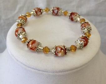 Brown/White bracelet