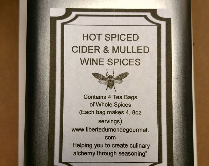 Spiced Cider & Mulled Spiced Wine Whole Spices in Metal Tin