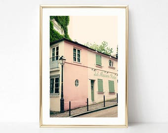 Paris photography, extra large wall art, Paris wall art, framed wall art, blush pink wall art, Paris photos, Paris prints, wall art canvas