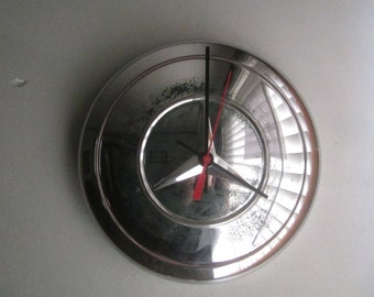 Vintage Mercedes Hubcap Clock no.2466