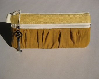 The True Romantic Pouch in yellow\/mustard