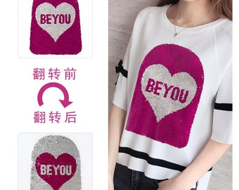 Be you sequins applique clothing decoration patch  vintage fashion patch