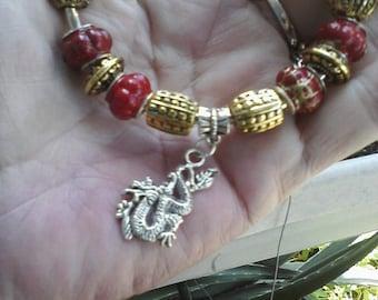 Fire Dragon, Euro style bracelet