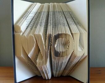Girlfriend Gift - Folded Book Art - Boyfriend Gift - Anniversary Gift - Best Selling Item - I Love You - Handmade Sculpture - Husband / Wife