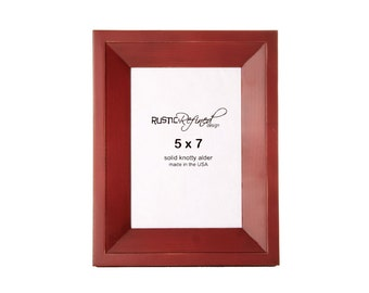 5x7 Haven picture frame - Barn Red, Free Shipping