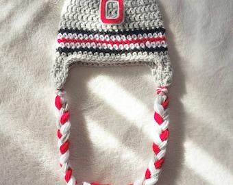 Ohio State Buckeyes inspired beanie hat | babies | children | Ohio