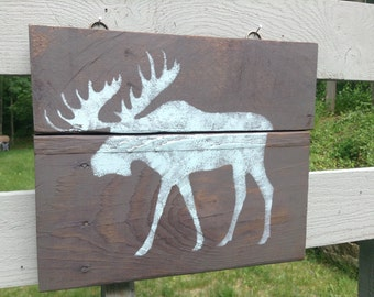 Cabin Sign, Cabin Decor, Moose Gifts, Hunter Gift, Moose Sign, Gift for Dad, Gift for Him, Hunting Gift, Cabin Gift, Cabin Wall Decor, Cabin