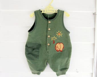 Three Month Baby Clothes, 3 Month Old Boys One Piece, Baby Clothes, Baby Sleeper, by mailordervintage on etsy