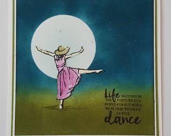Dancing in the moonlight handmade card