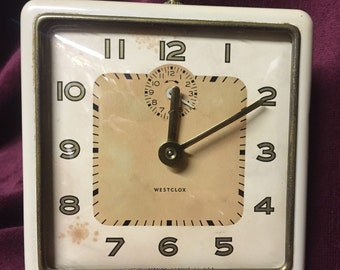 Vintage Clock - Westclox Alarm - Wind Up