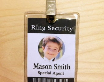 Ring Security, Ring Bearer Gift, Ring Bearer Gifts, Ring Bearer Security Badge, ID Badge, Ring Bearer Badge, Wedding Gift, Version #3