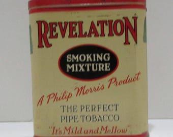 Antique Revelation Smoking Mixture Tobacco Tin Philip Morris & Co.