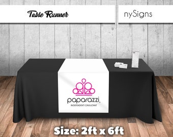 Paparazzi Printed Table Runner For Popup Party