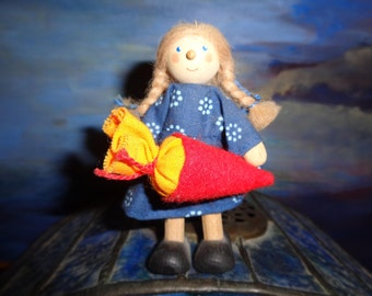 KATE KRUZE doll for doll house/ 80s / 9 cm/ Very RARE /For collectors