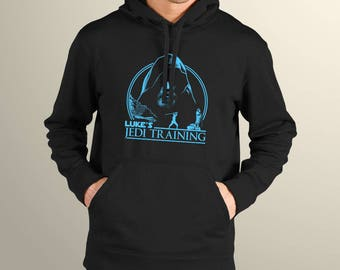 "Star Wars Inspired ""Luke's Jedi Training"" Men's Hoodie"