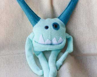 Sock Monster – Aqua – Pocket Size