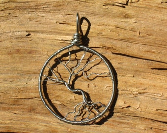 ON SALE!~~Bare wire German Silver~Tree of Life Pendant