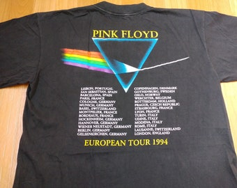 Vintage Pink Floyd t-shirt, 1994 Dark Side Of The Moon Tour Cities Brockum 2 sided 1990s progressive rock psychedelic rock punk size L Large