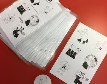 "12 stickers ""Aikidrôle"" humorous webcomic Aikido"