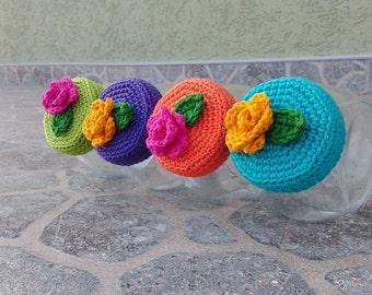 Crochet jar lid covers PATTERN IKEA