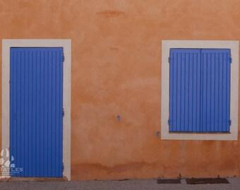 Blue Window and Door