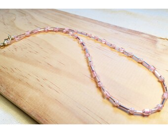 Light Pink Beaded Necklace