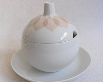 Rosenthal Lotus Salmon-jelly pot-Jam can bowl-studio line-Jam pot