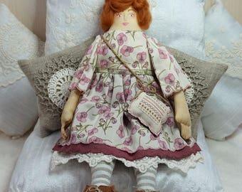 Isolde, A Folk Art Rag Doll