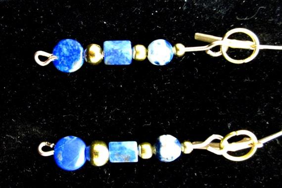Earrings J Lapis Azurite and Quartz