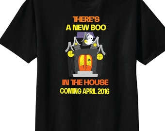 Halloween Shirts for Expectant Dads, Theres a New Boo In the House Shirts and Tshirts