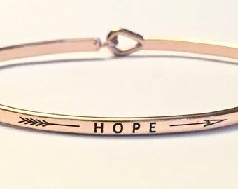 Inspired bangle bracelet , ( hope)