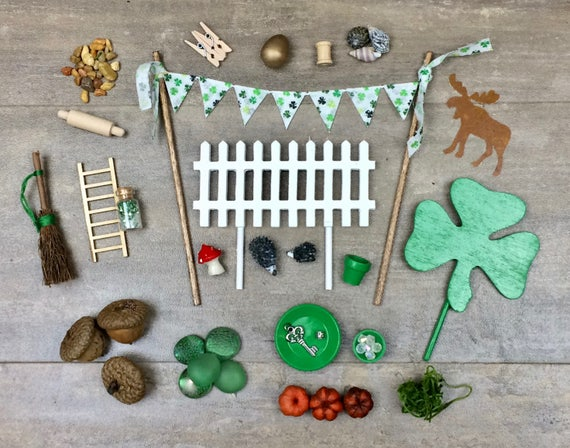 Gnome fairy garden accessories irish fairy garden green for Irish fairy garden