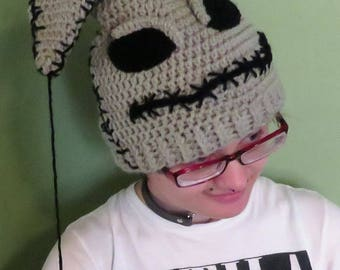 Crochet Nightmare Before Christmas Inspired Oogie Boogie Hat teen/adult size. This is made to order