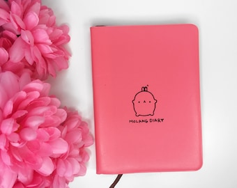 Kawaii Notebook | Cute Diary | Kawaii Journal | Leather Notebook | Pink Blue Notebook | Planner |