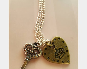 Key & Heart Necklace
