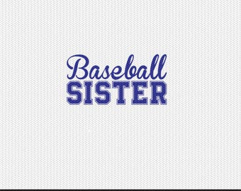 baseball sister svg dxf file instant download silhouette cameo cricut clip art