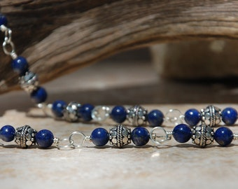 Lapis Lazuli Necklace and Earrings......no. 7516