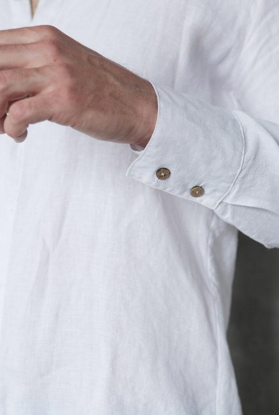 Beach flax White for men Gift Shirt t Dress shirt shirt him shirt Flax for 100 shirt shirt linen Natural Mens shirt sale AUXZ8RqW