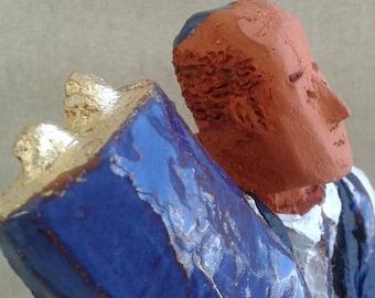 Mr GERALD WISEMAN,Jewish Art,Ceramic sculpture,Figurative art,Figurine,Fine Art Ceramics
