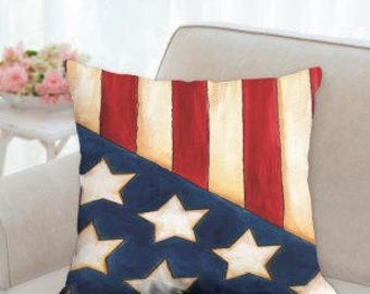 4th of July Flag Pillow
