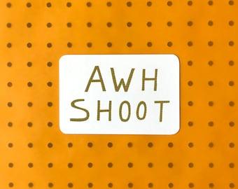 Screenprinted Postcard - Awh Shoot