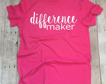 Teacher Shirts, Difference Maker Teacher TShirt, Teacher Appreciation Gift, Teacher T-Shirt, Teacher Tee, Principal T-Shirt, Counselor Shirt