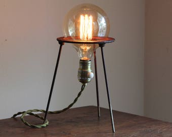 Science gift industrial lamp decor steampunk desk lighting chemistry biology space cool vintage laboratory science Edison bulb bunsen stand