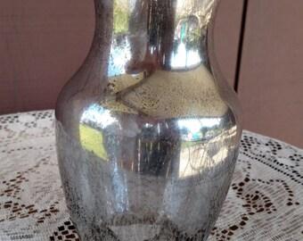 Mercury glass vase