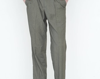 VINTAGE Green Khaki Retro Bottom Trousers