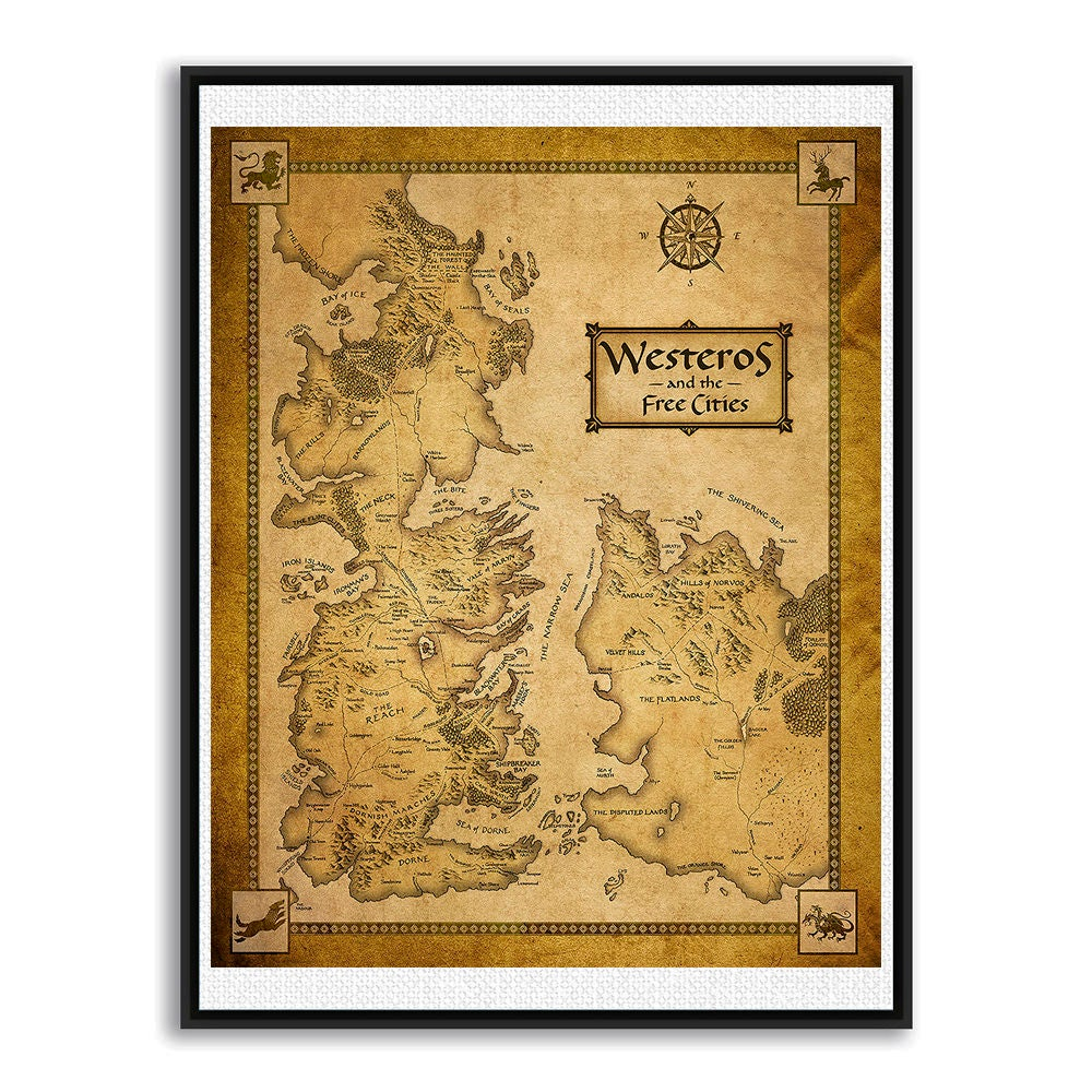 Game of Thrones Map Westeros Map Map Of Essos Game Of